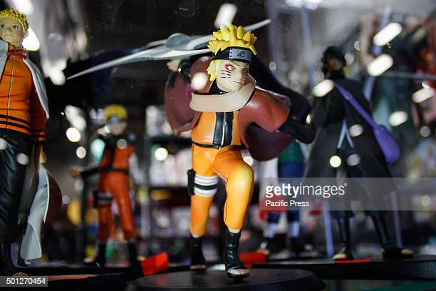 Naruto's action figure displayed during the fair Second edition of 'Xmas Comics and Games' a Christmas party preview of Torino Comics 2016 the...
