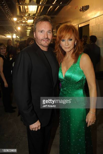 Narvel Blackstock and Reba McEntire attends the 2010 CMT Music Awards at the Bridgestone Arena on June 9 2010 in Nashville Tennessee