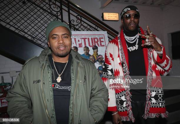 Nas and 2 Chainz attends the'Rapture' Netflix Original Documentary Series Special Screening at The Metrograph New York at Metrograph on March 20 2018...