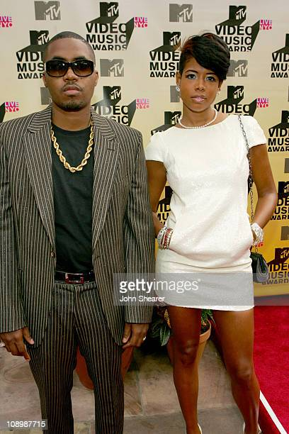 Nas and Kelis during 2006 MTV Video Music Awards MTVcom Red Carpet at Radio City Music Hall in New York City New York United States