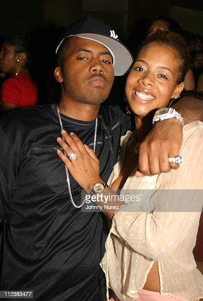 Nas and Kelis during Frank Roberts' Birthday Party at Lotus in New York City, New York, United States.