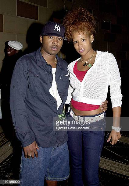Nas and Kelis during MercedesBenz Fashion Week Spring 2004 Absolut Lifestyle and Honey Magazine Launch Universal Party at Gotham Hall in New York...