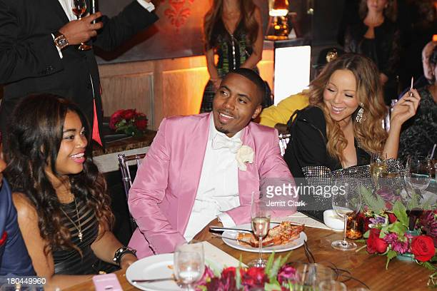 Nas and Mariah Carey attend Nas 40th Birthday Celebration Dinner And Party at Avenue NYC on September 12, 2013 in New York City.