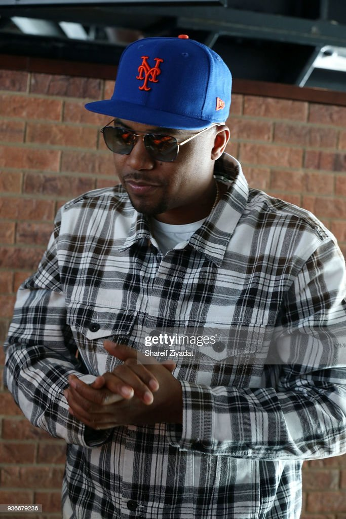 Nas Attends Citi Field Press Day