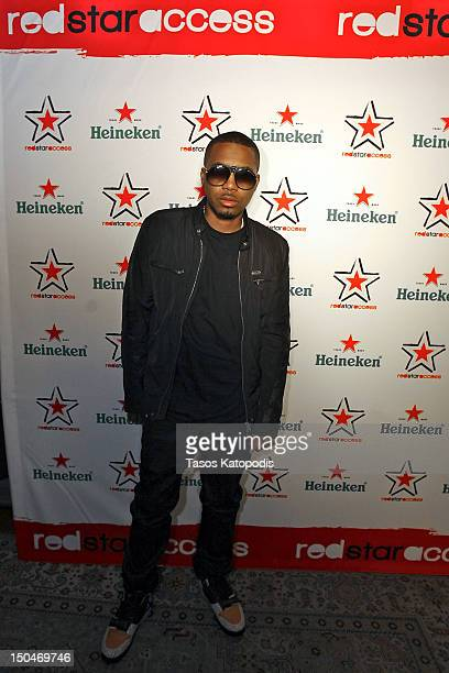 Nas attends Heineken Red Star Access Chicago featuring Nas Pusha T DJ Kiss and hosted by Affion Crockett at House of Blues on August 18 2012 in...