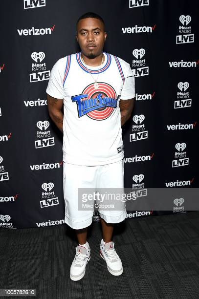 Nas attends iHeartRadio LIVE and Verizon Bring You Nas In NYC at PlayStation Theater on July 26 2018 in New York City
