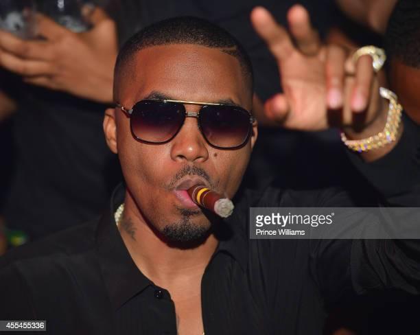 Nas attends Nas' birthday celebration at Compound on September 13 2014 in Atlanta Georgia