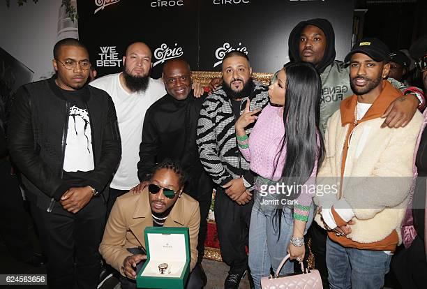 Nas Cool of Cool Dre Future LA Reid DJ Khaled Nicki Minaj Meek Mill and Big Sean attend the DJ Khaled The Keys Book Launch Dinner Presented By...