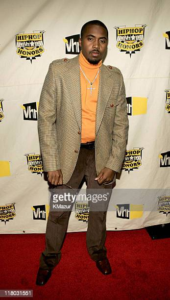 Nas during 2004 VH1 Hip Hop Honors Red Carpet at Hammerstein Ballroom in New York City New York