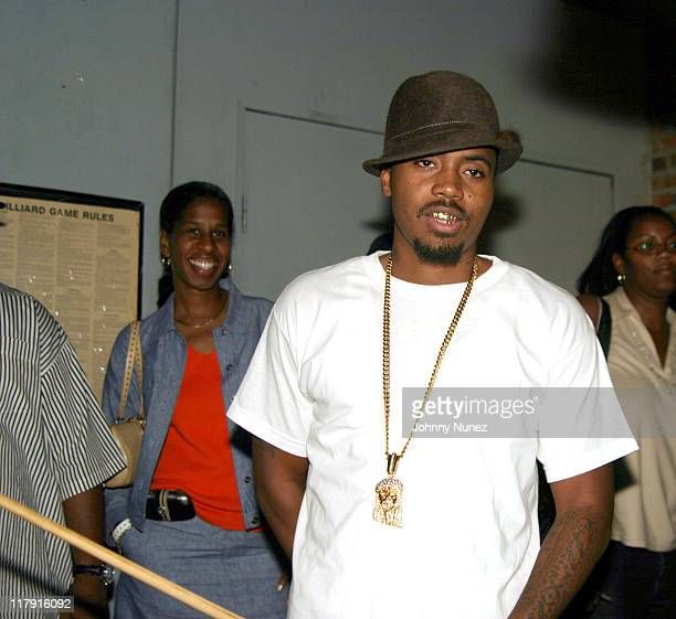 Nas during Free Presents BreakCelebrity Pool Tournament 2004 Presented by Boost Mobile at Slate in New York City New York United States