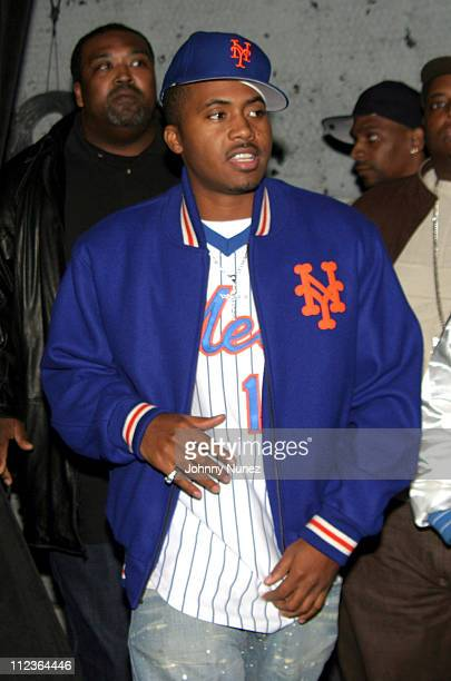 Nas during Hot 97 Presents VIP Lounge With Nas November 23 2004 at Sony Sound Studios in New York City New York United States
