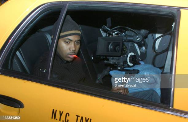 Nas during Nas Video Shoot December 23 2004 at Streets of Brooklyn in New York City New York United States