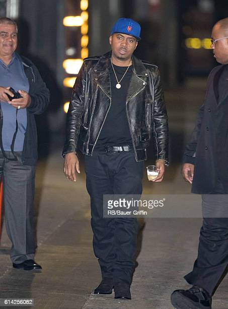 Nas is seen at 'Jimmy Kimmel Live' on October 12 2016 in Los Angeles California