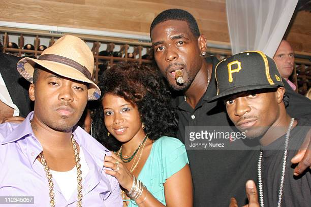 Nas Kelis Chris Webber and Jungle during Nas Birthday Party September 12 2005 at Butter in New York City New York United States