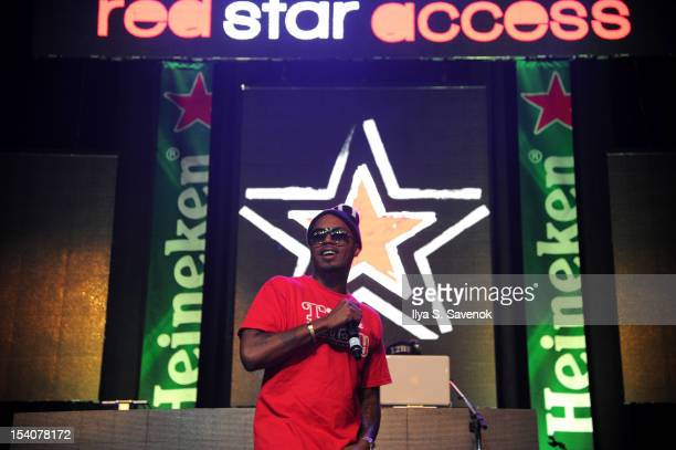 Nas performs at Heineken Red Star Access Philadelphia featuring Nas, Wale and Q-Tip at The Electric Factory on October 13, 2012 in Philadelphia,...