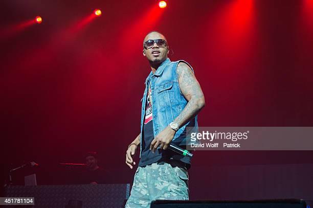 Nas performs at Zenith de Paris on July 6 2014 in Paris France