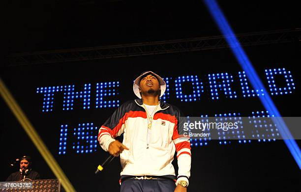 Nas performs on stage at The Roundhouse on June 5 2015 in London United Kingdom