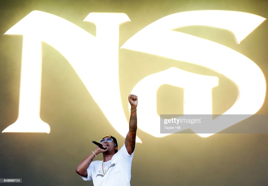 Nas performs onstage during Day 3 at The Meadows Music & Arts Festival at Citi Field on September 17, 2017 in New York City.