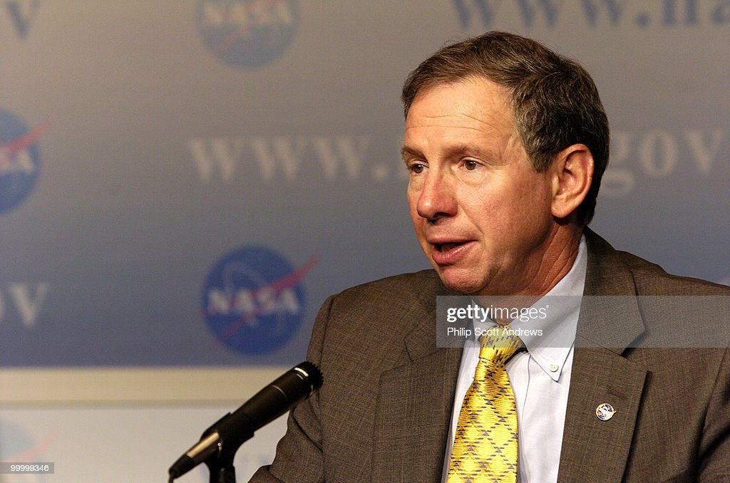 Nasa Administrator Michael Griffin holds a press conference to discuss work distribution among agency centers in the Constellation Program. The program is NASA's outline for robotic and human exploration of the moon and Mars.