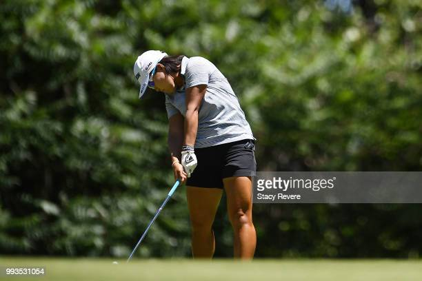 Nasa Hataoka of Japan hits her approach shot on the first hole during the third round of the Thornberry Creek LPGA Classic at Thornberry Creek at...