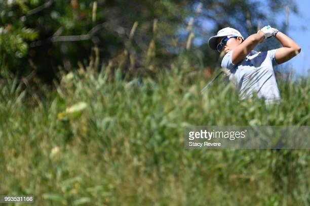 Nasa Hataoka of Japan hits her tee shot on the first hole during the third round of the Thornberry Creek LPGA Classic at Thornberry Creek at Oneida...