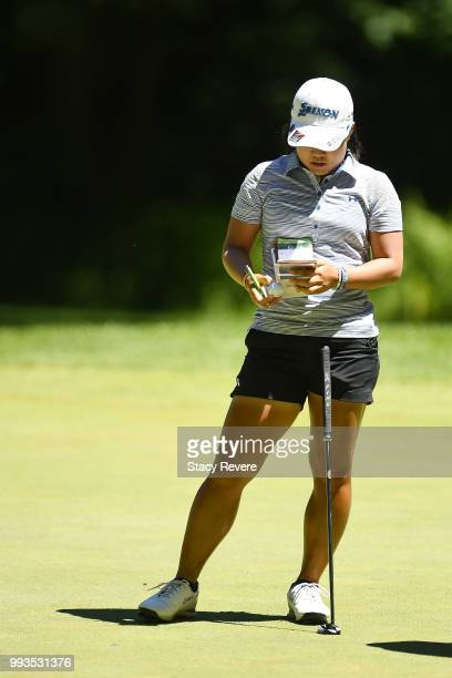 Nasa Hataoka of Japan waits to putt on the first green during the third round of the Thornberry Creek LPGA Classic at Thornberry Creek at Oneida on...