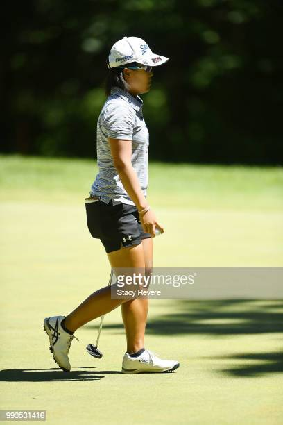 Nasa Hataoka of Japan walks across the first green during the third round of the Thornberry Creek LPGA Classic at Thornberry Creek at Oneida on July...