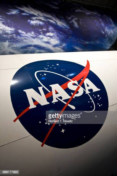 nasa symbol on space shuttle - nasa stock pictures, royalty-free photos & images