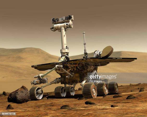 Nasa undated computer generated image of what the it's Spirit rover would look like on the surface of Mars Only a faint beeping tone could be heard...