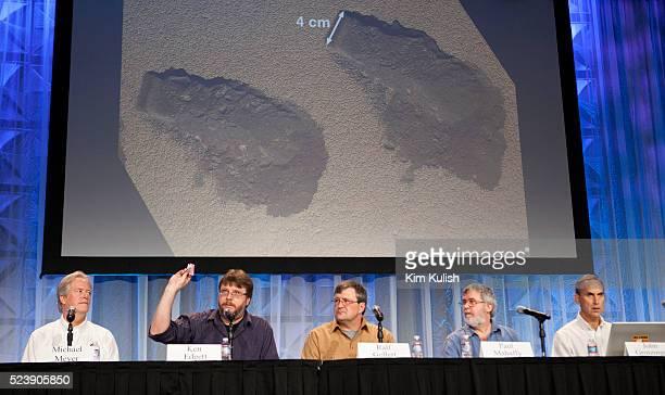 Nasa's Michael Meyer Program Scientist for Mars Science Laboratory Ken Edgett Principal Investigator for Curiosity's Mars Hand Lens Imager Ralf...