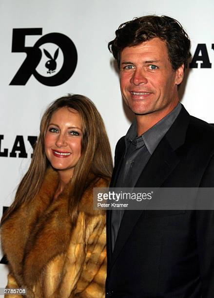 Nascar car driver Michael Waltrip and his wife buffy arrive at the Playboy 50th Anniversary celebration December 4 2003 in New York City
