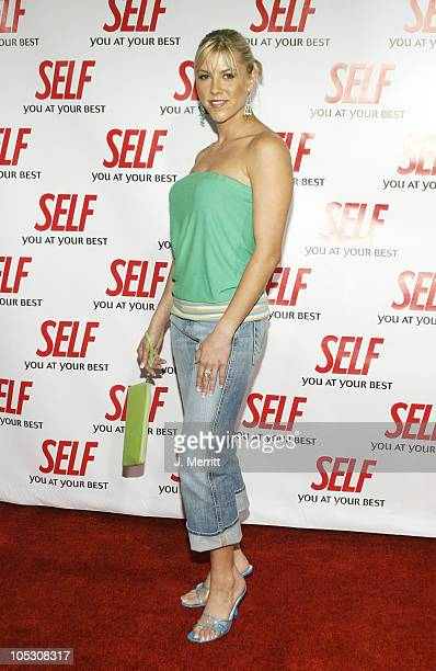 Nascar driver Candace Muzny during Hollywood Gets Healthy with Self Magazine Arrivals at Fred Segal Beauty in Santa Monica California United States