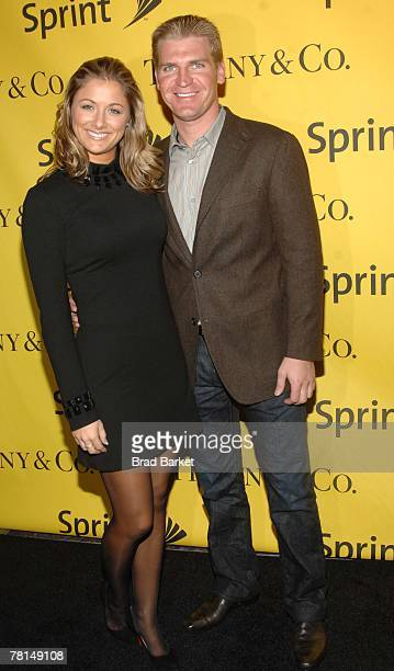 Nascar Driver Clint Bowyer and Athena Elizabeth Barber attend the Sprint Nextel and Tiffany & Co. Celebrate Champions Week at Tiffany $ Co. On...