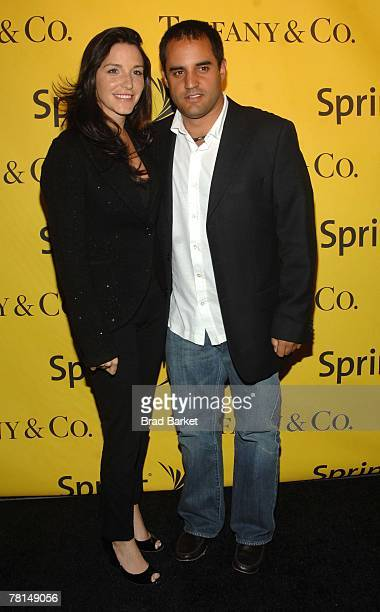 Nascar driver Juan Pablo Montoya and wife Connie Montoya attend the Sprint Nextel and Tiffany & Co. Celebrate Champions Week at Tiffany $ Co. On...