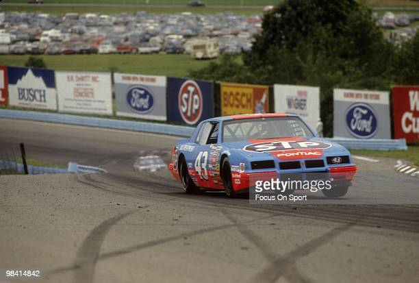 Nascar driver Richard Petty in action August 9 1986 during the Nascar Winston Cup race The Budweiser at the Glen in Watkins Glen New York Petty...