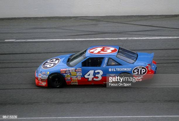 Nascar Driver Richard Petty in action in the STP February 19 1989 during the Nascar Winston Cup Daytona 500 at Daytona International Speedway in...