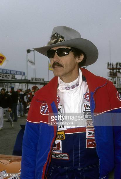 Nascar driver Richard Petty in this portrait February 1989 before the Nascar Winston Cup Daytona 500 race at Daytona International Speedway in...