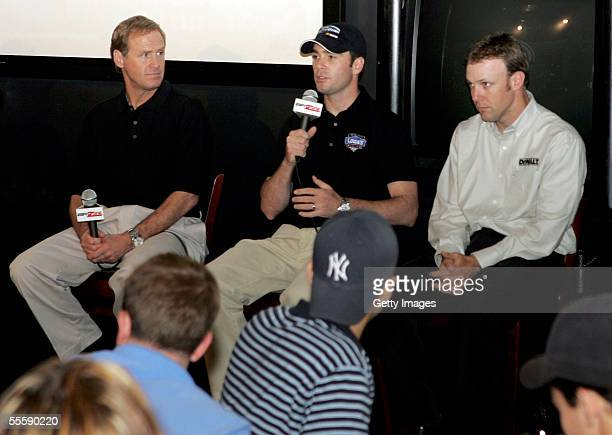Nascar drivers Rusty Walace Jimmie Johnson and Matt Kenseth answer questions from fans during the Chase for the Nascar Nextel Cup Media Day at ESPN...