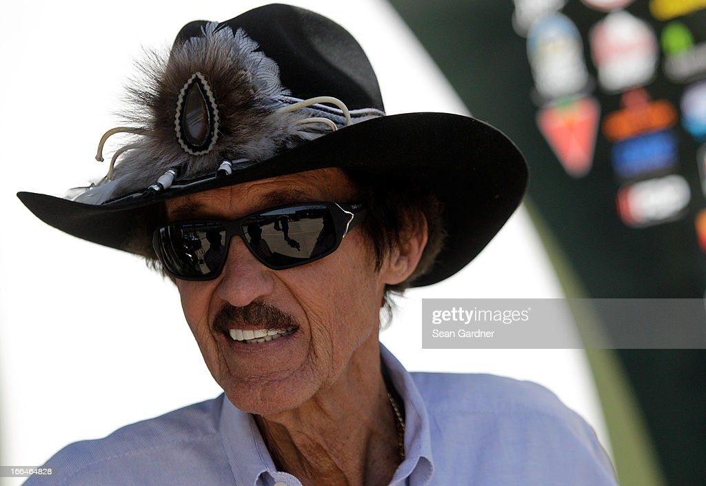 Nascar Hall of Famer Richard Petty stands in the garage area during practice for the NASCAR Sprint Cup Series NRA 500 at Texas Motor Speedway on April 12, 2013 in Fort Worth, Texas.