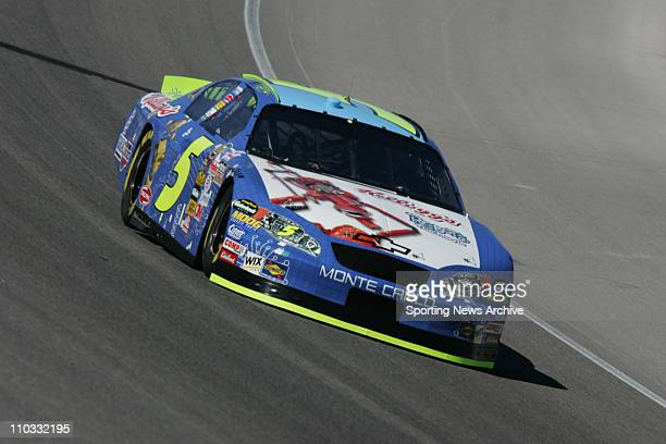 Nascar Kyle Busch during practice for the NEXTEL Cup UAWDaimler Chrysler 400 on March 11 2005 in Las Vegas NV Jimmie Johnson won the race