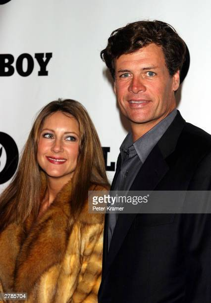 Nascar race car driver Michael Waltrip and his wife Buffy at the Playboy 50th Anniversary celebration December 4 2003 in New York City