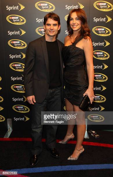 Nascar Sprint Cup driver Jeff Gordon and wife Ingrid Vandebosch attend the 2008 NASCAR Sprint Cup Series Champion's party at Marquee on December 4...