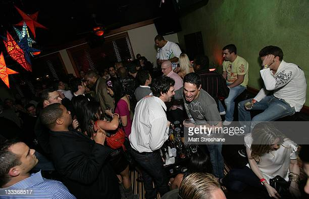 Nascar Sprint Cup driver Jimmie Johnson and MLB Player Marcus Giles inside at the Super Skins Kickoff Party hosted by Nick Lachey and Jimmie Johnson...