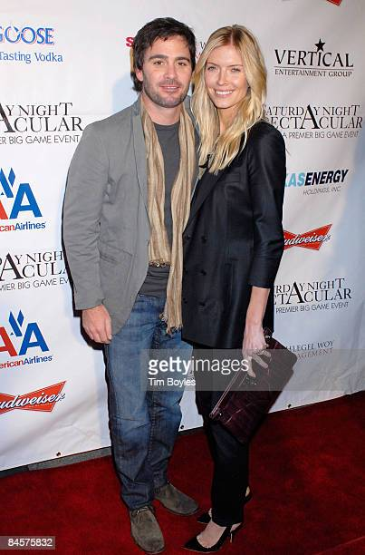 Nascar Sprint Cup driver Jimmie Johnson and wife Chandra Johnson attend the 3rd Annual Saturday Night Spectacular hosted by Kevin Costner and Michael...