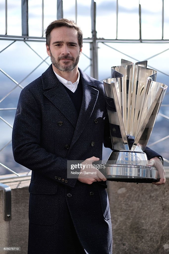2016 Nascar Sprint Cup Series Champion Jimmie Johnson Visits The Empire State Building