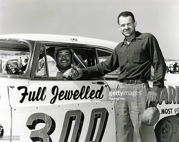 NASCARÕs first two African-American drivers, Charlie Scott and Wendell Scott, who were not related, pose together at the Daytona Beach-Road Course....