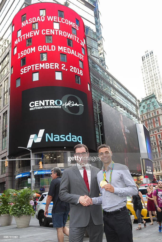 USA Track & Field Olympic Gold Medalist to Ring The Nasdaq Closing Bell : News Photo
