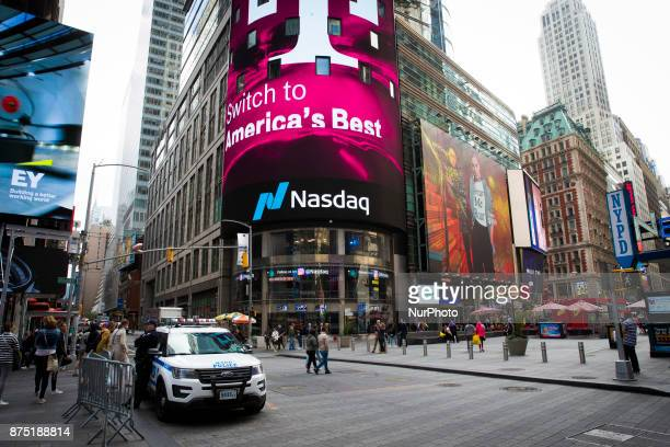 Nasdaq MarketSite in Times Square New York United States on October 13 2017