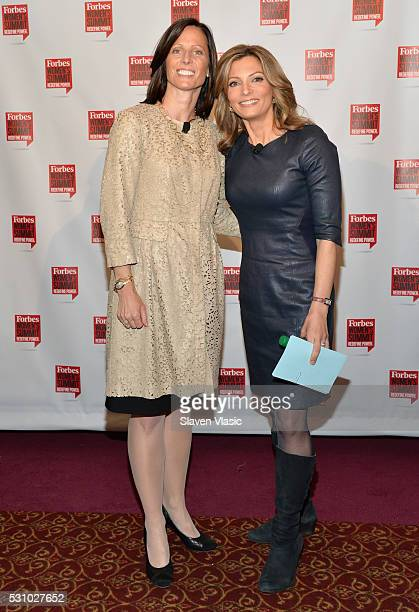 Nasdaq President and COO Adena Friedman and Fox Business anchor Deirdre Bolton attend the 2016 Forbes Women's Summit at Pier Sixty at Chelsea Piers...