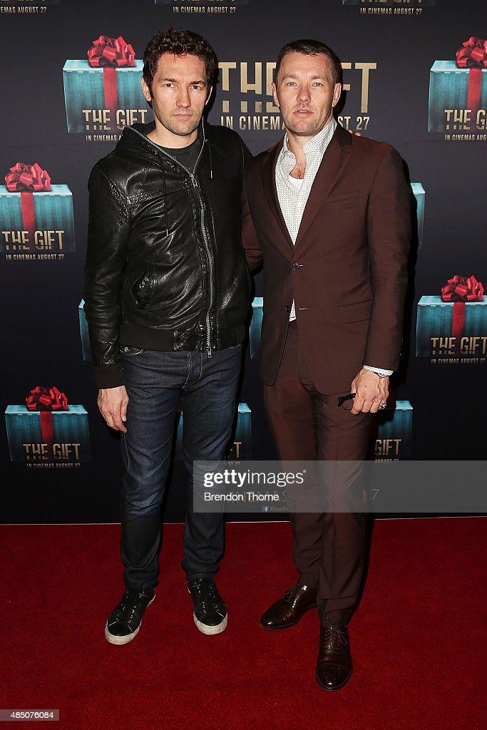 Nash Edgerton and Joel Edgerton arrive ahead of 'The Gift' Sydney Premiere at Event Cinemas George Street on August 24, 2015 in Sydney, Australia.